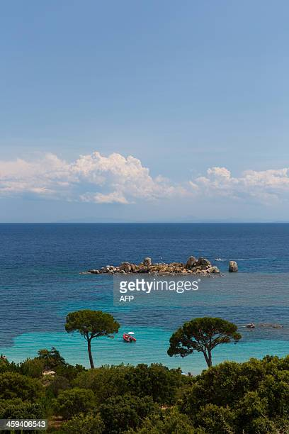 The Tamaricciu beach near PortoVecchio on June 27 2013 on the French Mediterranean island of Corsica AFP PHOTO / PATRICE COPPEE