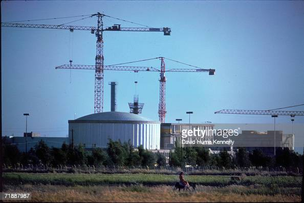 The Tammuz lightwater nuclear materials testing reactor under construction in AlTuwaitha just outside of Baghdad Iraq April 1 1979 The testing...