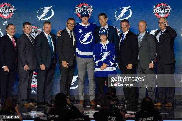 The Tampa Bay Lightning select defenseman Callan Foote with the 14th pick in the first round of the 2017 NHL Draft on June 23 at the United Center in...