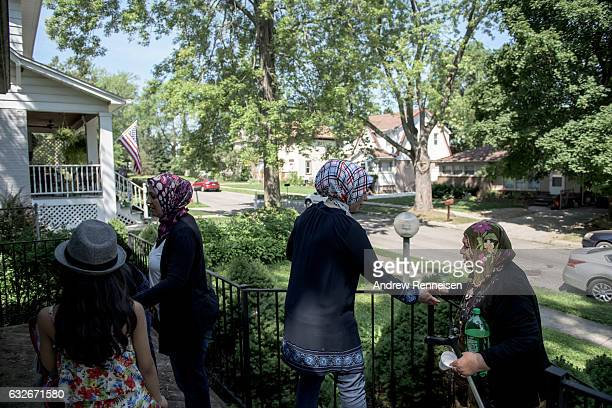 The Tanbal family arrives at their new home for the first time on July 24 2015 in Bloomfield Hills MI Since the war started the United States has...