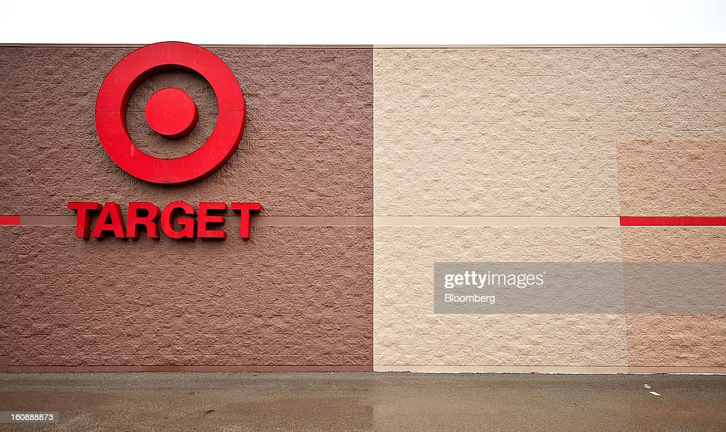 The Target Corp. logo is displayed store in Peru, Illinois, U.S., on Thursday, Feb. 7, 2013. Target Corp. led U.S. retailers to the biggest monthly same-store sales gain in more than a year as shoppers snapped up discounted merchandise chains were clearing out after the holidays. Photographer: Daniel Acker/Bloomberg via Getty Images