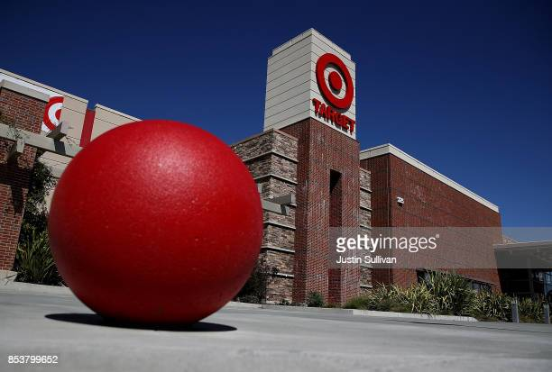 The Target logo is displayed on the exterior of Target store on September 25 2017 in San Rafael California Target Corp annouced plans to raise the...