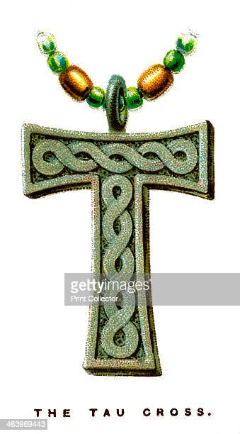 The Tau Cross 1923 Ancient symbol which predates Christianity One of a series of WD HO Wills' Cigarette Cards called Lucky Charms