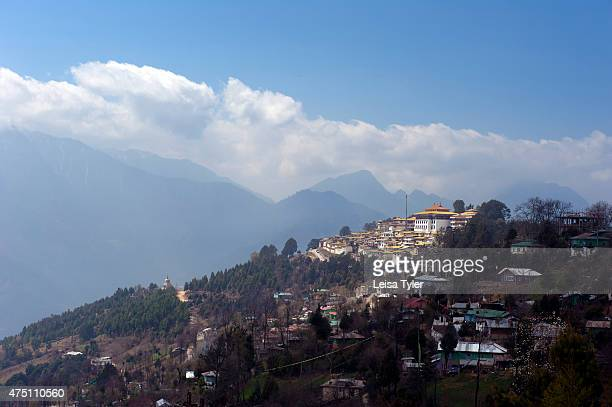 The Tawang Monastery as seen from the town of Tawang a former Tibetan Kingdom that was signed over to British run India by way of the Simla Accord in...