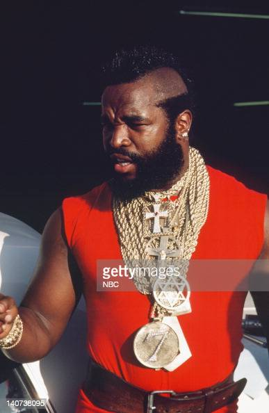 TEAM 'The Taxicab Wars' Episode 7 Pictured Mr T as BA Baracus Photo by NBCU Photo Bank