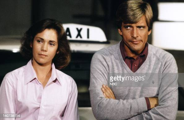 TEAM 'The Taxicab Wars' Episode 7 Pictured Robin Dearden as Kathy Dirk Benedict as Templeton 'Faceman' Peck Photo by NBCU Photo Bank