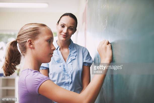 The teacher gives her confidence