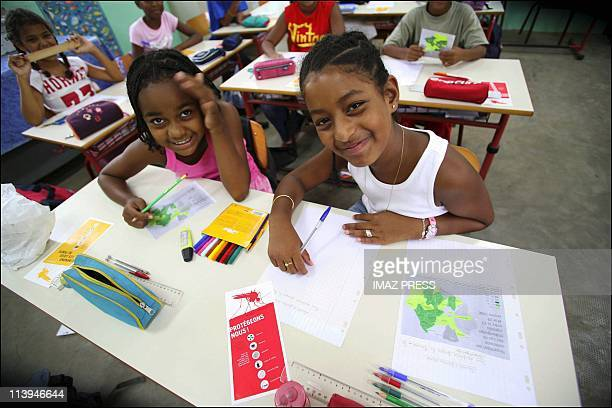 The teachers and the students back to school after the chikungunya epidemic on Reunion island In France On February 06 2006