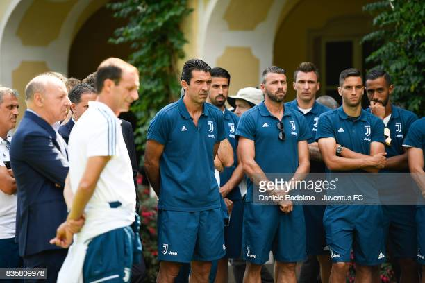 the team before the preseason friendly match between Juventus A and Juventus B on August 17 2017 in Villar Perosa Italy