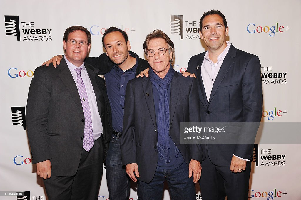 The team behind 'Confessions of Kiefer Sutherland' attend the 16th Annual Webby Awards on May 21, 2012 in New York City.