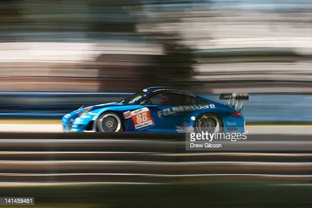 The Team Felbermayr Proton Porsche 911 RSR driven by Christian Ried of Germany Gianluca Roda of Italy and Paolo Ruberti of Italy during the 2012...