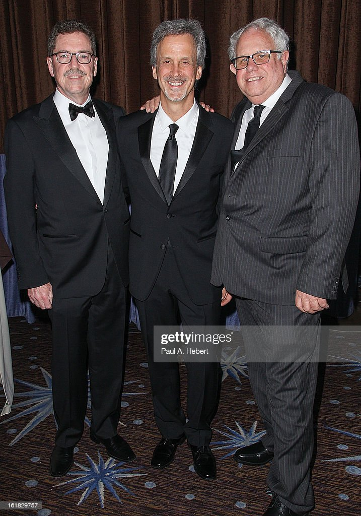 the team from Argo Gregg Rudloff, William Goldenberg, A.C.E., and John T. Reitz arrive at the 63rd Annual ACE Eddie Awards held at The Beverly Hilton Hotel on February 16, 2013 in Beverly Hills, California.