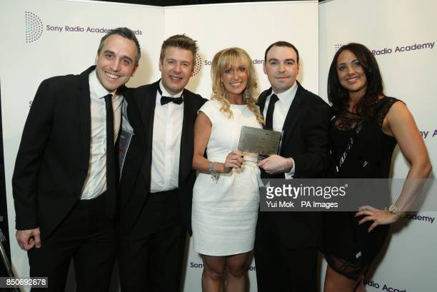 The team from Real Radio North West with their Best Community Programming Award for 'Ciaran's Cause' at the Sony Radio Academy Awards at Grosvenor...