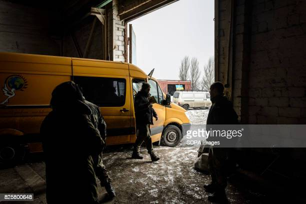 The team makes stops all along the frontline to bring vital supplies to people At one point in the war the only functioning radios in Donetsk airport...