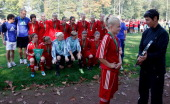 The team of Brandenburg celebrates winning the Women's U17 Federal State Cup at the Sport School Wedau on October 3 2011 in Duisburg Germany
