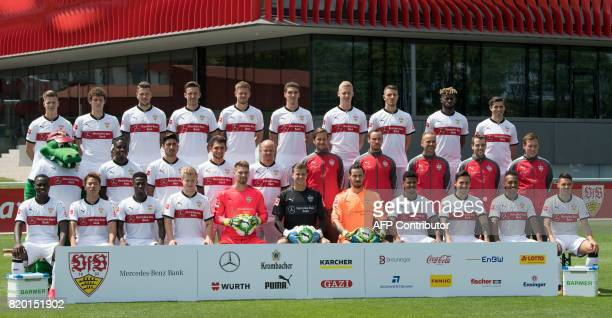 The team of German first division Bundesliga football team VfB Stuttgart poses for a team picture in Stuttgart southwestern Germany on July 21 2017...