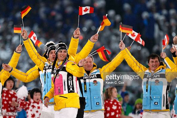 The team of Germany is led through the stadium by flag bearer Frank Hofle during the Opening Ceremony of the 2010 Vancouver Winter Paralympic Games...
