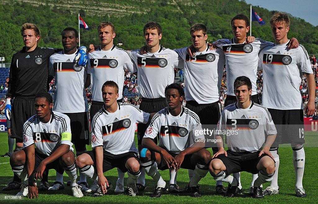 The team of Germany lines up MarcAndre ter Stegen Goalkeeper AbuBakarr Kargbo Lennart Thy Shkodran Mustafi Niko Opper Robert Labus Florian Trinks...