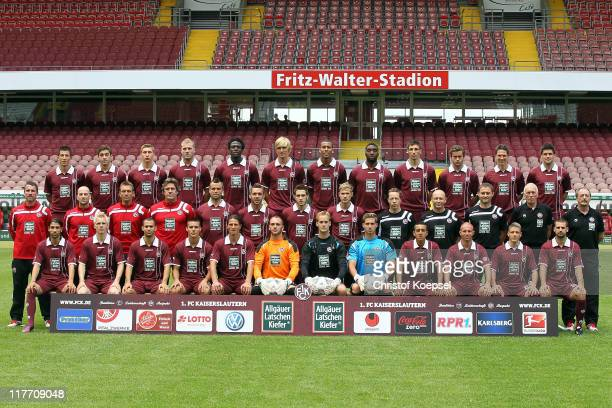 The team of Kaiserslautern starts from from the upper row with Ilian Micanski Thanos Petsos Willi Orban Adam Nemec Rodnei Martin Amedick Lucas...