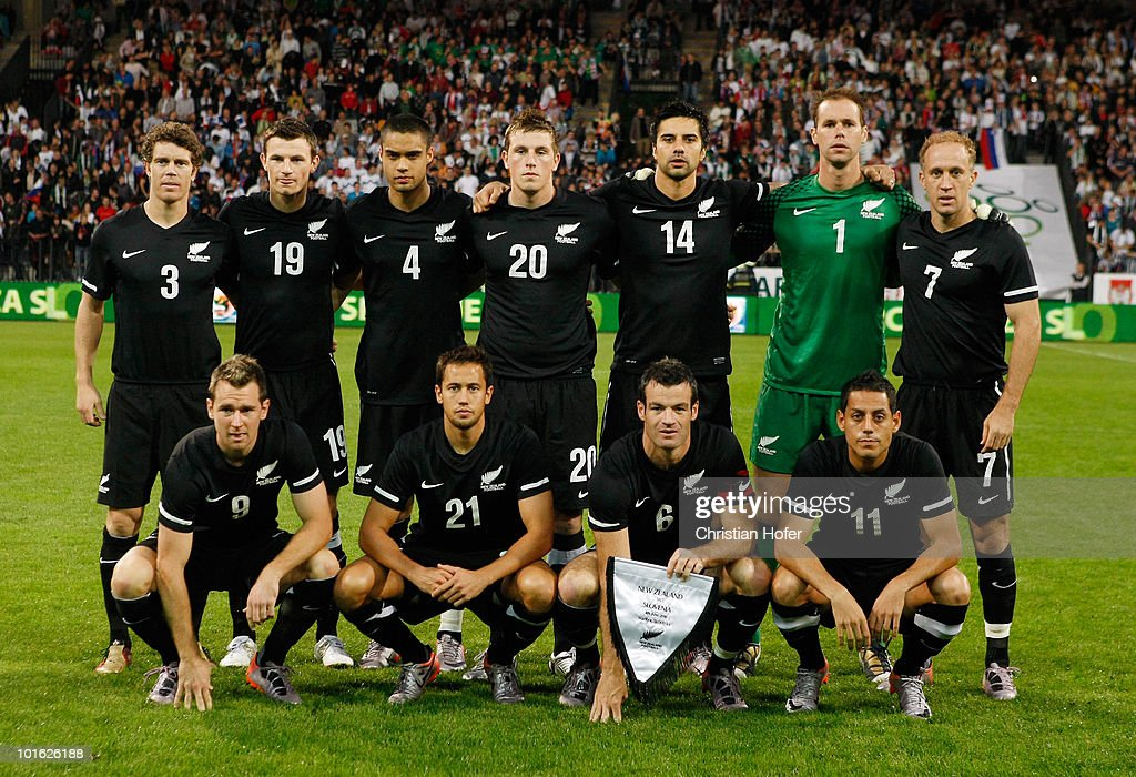 The team of New Zealand line up before the International Friendly match between Slovenia and New Zealand at the Stadion Ljudski vrt on June 4, 2010 in Maribor, Slovenia.