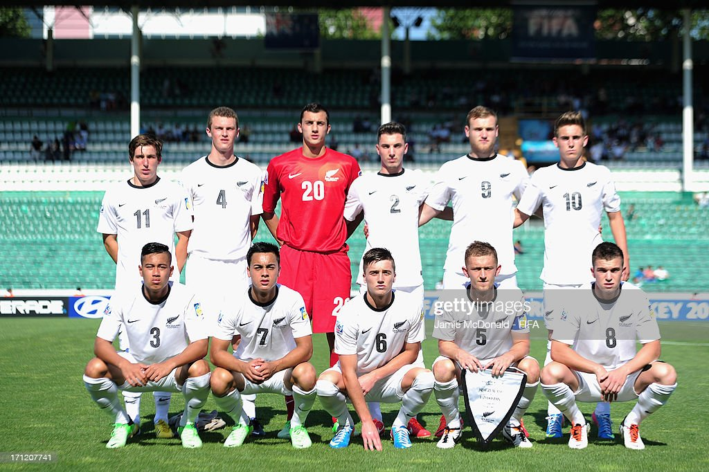 The team of New Zealand pose during the FIFA U-20 World Cup Group F match between New Zealand and Uzbekistan at the Ataturk Stadium on June 23, 2013 in Bursa, Turkey.