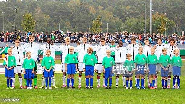 The Team of U16 Germany during the match between U16 Germany v U16 Belgium at HeinzDettmerStadion on September 12 2014 in Lohne Germany