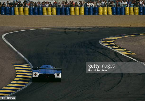 The Team Sauber Mercedes Mercedes Benz C11 driven by Kurt Thiim Jonathan Palmer and Stranley Dickens during the FIA World Sportscar Championship 24...