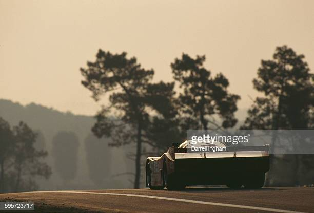 The Team Schuppan Omron Racing Porsche 962C driven by Hurley Haywood Wayne Taylor and Rickard Rydell during the FIA World Sportscar Championship 24...