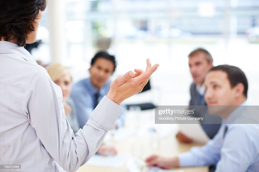 The team will always back her up : Stock Photo