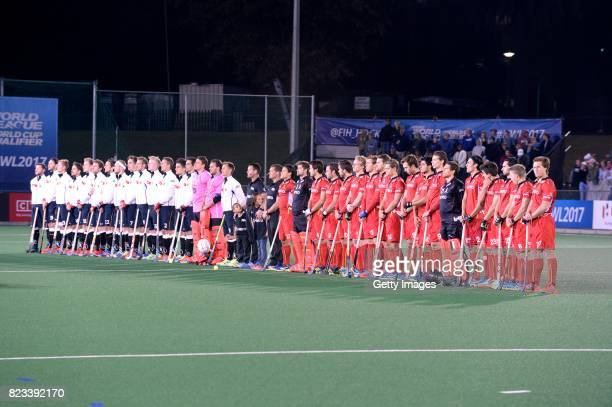 the teams during day 9 of the FIH Hockey World League Women's Semi Finals final match between United States and Germany at Wits University on July 23...