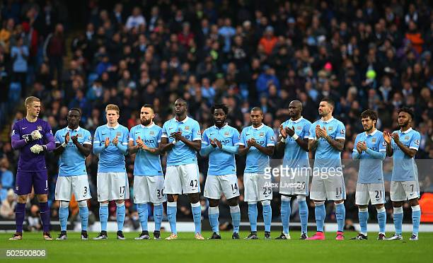 The teams observe a minutes silence in honour of the people associated to the clubs that have passed away this year during the Barclays Premier...