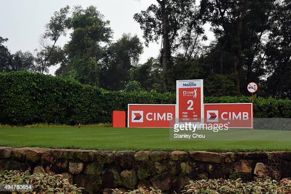 The tee box of the 2nd hole during round one of the CIMB Classic at Kuala Lumpur Golf Country Club on October 29 2015 in Kuala Lumpur Malaysia