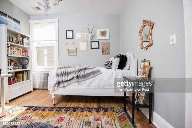 The teenage daughter's bedroom in the Hoburg family's renovated Capitol Hill rowhouse on July 26 2017 A Washington family makes a modest 100yearold...