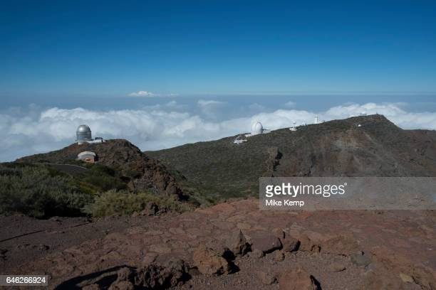 The telescopes of the Roque de los Muchachos Observatory in the Caldera de Taburiente National Park in La Palma Canary Islands Spain La Palma also...