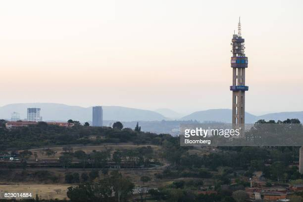 The Telkom Tower operated by Telkom SA SOC Ltd stands on the city skyline in Pretoria South Africa on Tuesday July 25 2017 South Africa is evaluating...