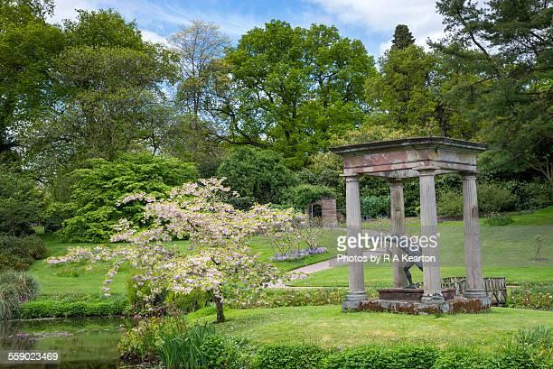 The temple garden, Cholmondeley castle, Cheshire