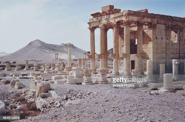 The temple of BaalShamin in Palmyra Syria circa 1960