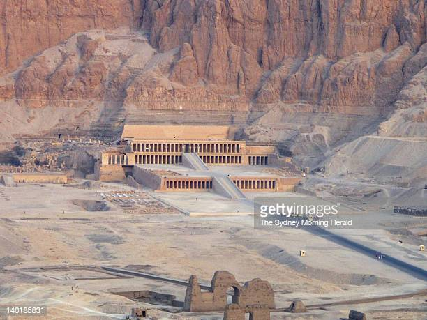 The temple of Hatshepsut which is situated along the Nile Rile opposite the city of Luxor in Egypt