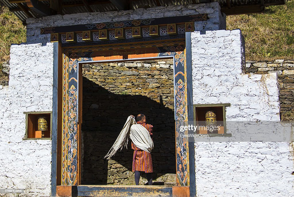 The Temple of Kurjey Lhakhang near Jakar on November 18, 2012 in Bumthang, Bhutan.