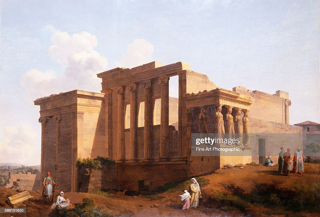 The Temple of Minerva Athens Greece by LandelotTheodore Turpin de Crisse