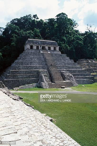 The Temple of the Inscriptions ca 675 Palenque Chiapas Mexico Mayan civilisation 7th century