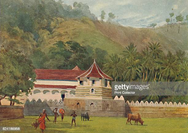 The Temple of the Tooth Kandy Exterior' c1880 From The HighRoad of Empire by A H Hallam Murray [John Murray Ablemarle Street London 1905] Artist...