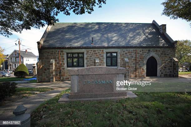 The Temple Ohabei Jewish mortuary chapel at Shalom Cemetery in Boston future site of the East Boston Immigration Center is pictured on Oct 19 2017 A...