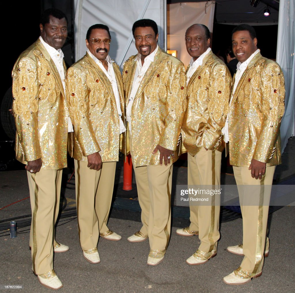 The Temptations Review (L-R) David Sea, Mike Patillo, Dennis Edwards, Chris Arnold and Paul Williams Jr. attend the Homeward Bound Telethon at American Legion Hall on November 10, 2013 in Los Angeles, California.