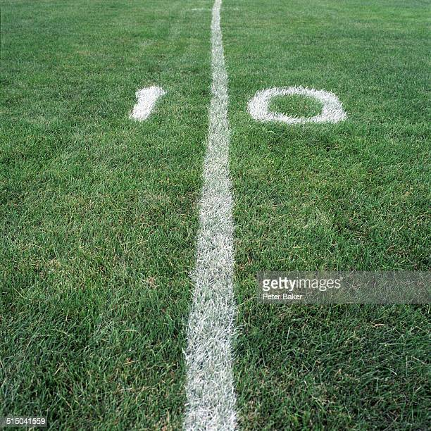 The ten yard line on an American football field