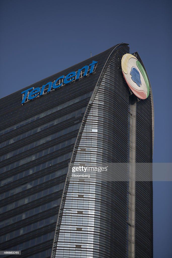 The Tencent Holdings Ltd. building stands in the Nanshan district in Shenzhen, China, on Thursday, Dec. 19, 2013. Chinese households' concentration of wealth in real estate is magnifying the danger to the world's second-largest economy of any property bust, as the nation grapples with the consequences of its record credit surge. Photographer: Brent Lewin/Bloomberg via Getty Images