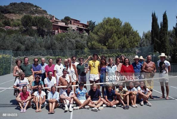 The tennis courts at Il Pellicano Hotel in Porto Ercole Tuscany August 1980