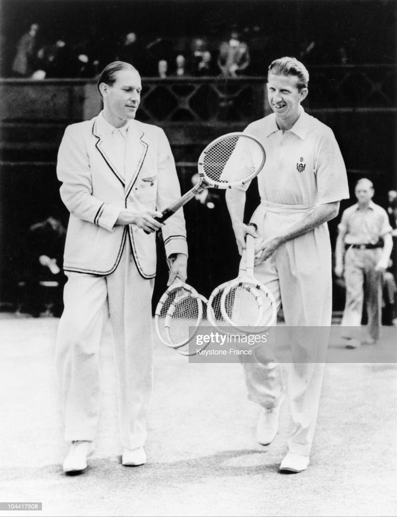 The Tennis Player Donald Budge Usa And The German Baron