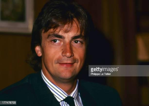 The tennis player Henri Leconte at a dinner in Paris in 1989 Le tennisman Henri Leconte participe a un diner a Paris en 1989