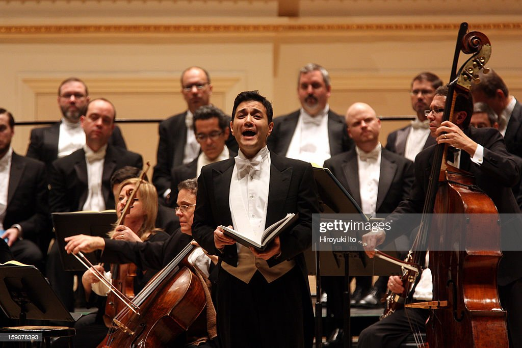 The tenor Nicholas Phan with Musica Sacra in Handel's 'Messiah' at Carnegie Hall on Thursday night, December 20, 2012.